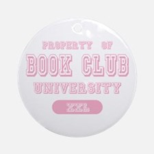 Property of Book Club University Ornament (Round)
