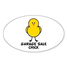Garage Sale Chick Oval Decal