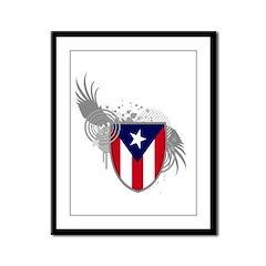 Puerto rican pride Framed Panel Print