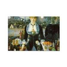 Manet, A Bar at the Folies-Bergere Rectangle Magne