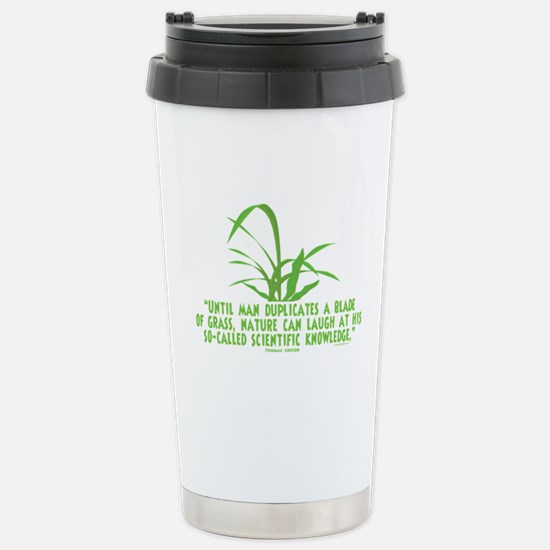 Edison Nature Quote Stainless Steel Travel Mug