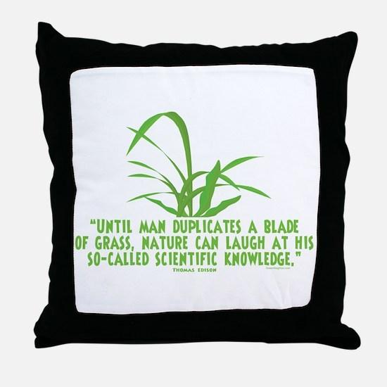Edison Nature Quote Throw Pillow