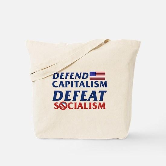 Defend Capitalism, Defeat Socialism Tote Bag