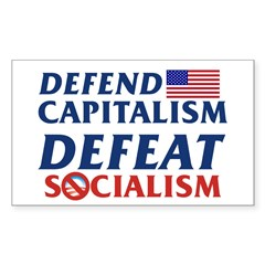 Defend Capitalism Rectangle Sticker 10 pk)