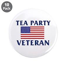 "Tea Party Veteran 3.5"" Button (10 pack)"