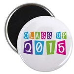 Colorful Class Of 2015 Magnet
