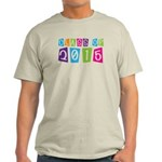 Colorful Class Of 2015 Light T-Shirt