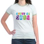 Colorful Class Of 2015 Jr. Ringer T-Shirt