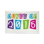 Colorful Class Of 2015 Rectangle Magnet