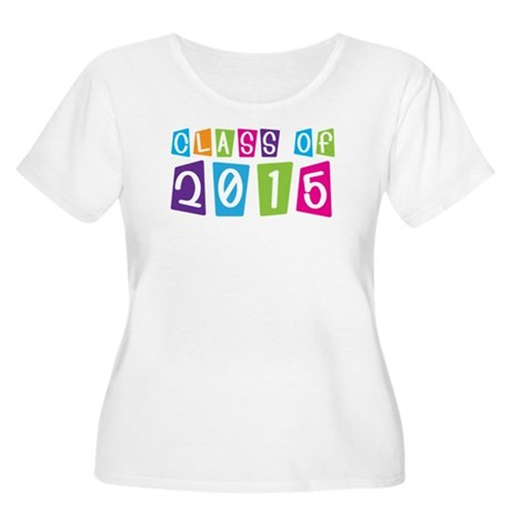 Colorful Class Of 2015 Women's Plus Size Scoop Nec