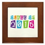 Colorful Class Of 2015 Framed Tile