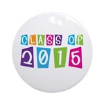 Colorful Class Of 2015 Ornament (Round)