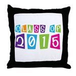 Colorful Class Of 2015 Throw Pillow
