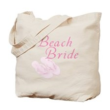 Pink Beach Bride Tote Bag