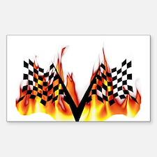 Racing Flag Fire 1 Rectangle Decal