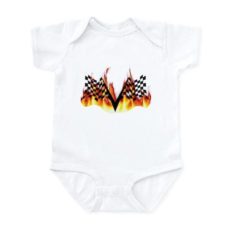 Racing Flag Fire 1 Infant Bodysuit