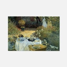 The Luncheon by Claude Monet Rectangle Magnet (10