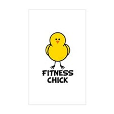 Fitness Chick Rectangle Stickers
