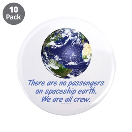 """Environment, Earth 3.5"""" Button (10 pack)"""