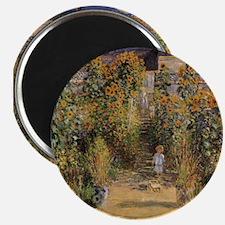 """Claude Monet, Artist's Garden at Vetheuil 2.25"""" Ma"""