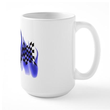 Racing Flag Fire 2 Large Mug