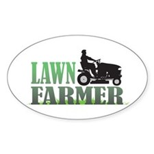 Lawn Farmer Oval Decal