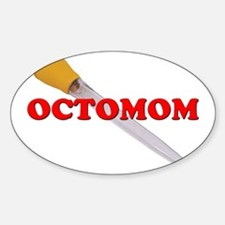 OCTOMOM Oval Decal