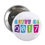 "Colorful Class Of 2017 2.25"" Button"