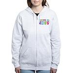 Colorful Class Of 2017 Women's Zip Hoodie
