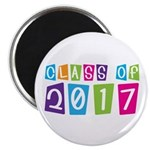 Colorful Class Of 2017 Magnet