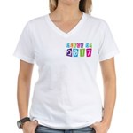 Colorful Class Of 2017 Women's V-Neck T-Shirt