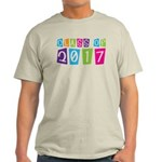 Colorful Class Of 2017 Light T-Shirt