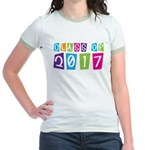 Colorful Class Of 2017 Jr. Ringer T-Shirt