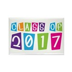 Colorful Class Of 2017 Rectangle Magnet