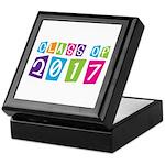 Colorful Class Of 2017 Keepsake Box