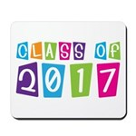 Colorful Class Of 2017 Mousepad