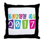 Colorful Class Of 2017 Throw Pillow