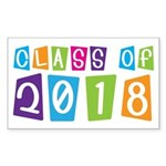 Whimsical Class Of 2018 Rectangle Sticker 50 pk)