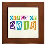 Whimsical Class Of 2018 Framed Tile