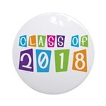 Whimsical Class Of 2018 Ornament (Round)