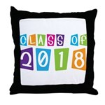 Whimsical Class Of 2018 Throw Pillow