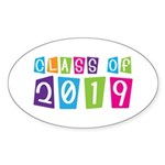 Colorful Class Of 2019 Oval Sticker (10 pk)