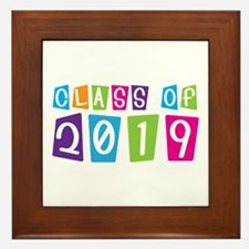 Colorful Class Of 2019 Framed Tile