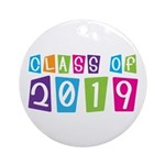 Colorful Class Of 2019 Ornament (Round)