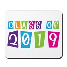 Colorful Class Of 2019 Mousepad