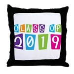 Colorful Class Of 2019 Throw Pillow