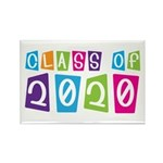 Colorful Class Of 2020 Rectangle Magnet