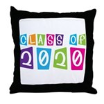 Colorful Class Of 2020 Throw Pillow