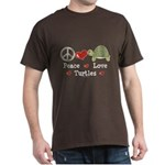 Peace Love Turtles Dark T-Shirt