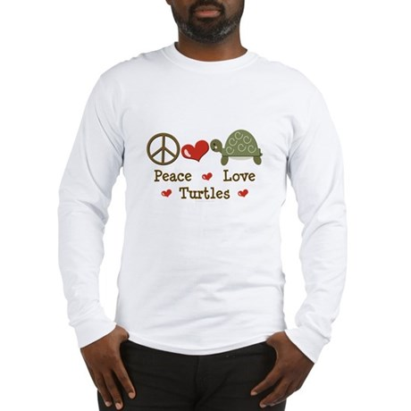 Peace Love Turtles Long Sleeve T-Shirt